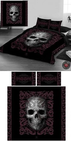 Anne Stokes Oriental Skull Double Duvet Cover Set (US Full Size) - Click to enlarge