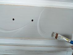 Lake Girl Paints: Pewter and White Dresser
