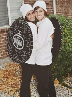 Cute Oreo couple costume