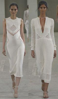 Вязаные платья 2015- crochet knit dress combination