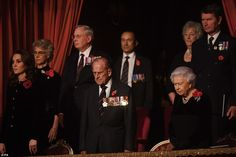 The monarch was joined at the Royal Albert Hall in London by thousands of veterans for the Remembrance. Red Poppies, elegant, Kate expecting third child. Nov 2017, Prince Philip, Queen QE2