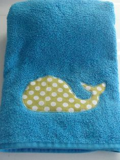 KIds Whale TowelPErfect for the home or by brownowldesign on Etsy, $12.00