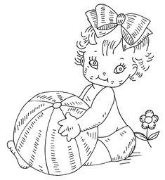 Retro Baby Embroidery Pattern ~ Álbum de imágenes para la inspiración (pág. 103)   Aprender manualidades es facilisimo.com
