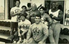 Arnold Schwarzenegger, Franco Columbu, Eddie Giulliani, Joe Gold, Bob Paris & Jim Morris