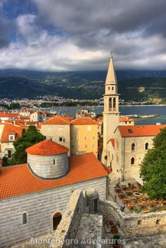 Budva Old Town, Montenegro, a country located in Southeastern Europe. It has a coast on the Adriatic Sea to the south and borders Croatia to the west, Bosnia and Herzegovina to the northwest, Serbia to the northeast, Albania to the southeast.