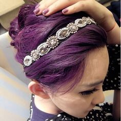 Fashion Women s Crystal Rhinestone Gray Beads Headband Hair Band Accessories  1pc 7a211a5a16d7