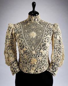 Crochet Lace blouse by Aranka Szontagh, 1905-1910.