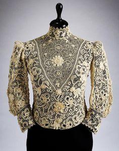 Crochet Lace blouse by Aranka Szontagh, 1905-1910.