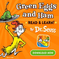 New enhanced version of Dr. Seuss' Green Eggs and Ham. Hidden interactive activities on each page. New today. http://bit.ly/greenEggsAndHam