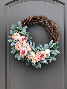Spring Wreaths for Front Door Spring Wreath Easter Wreaths | Etsy