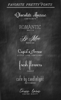 Make your own Valentines with these pretty fonts (free to download). 7 Pretty Free Fonts