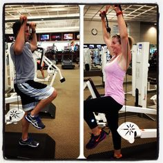 Exercise of the day: single leg, cable overhead press. Thanks to the lovely couple!   Photo by rsvenby • Instagram