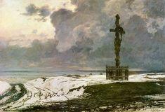 """Michał Wywiórski (Gorstkin) (1861-1926)  """"Krzyż na rozstaju"""",1906"""