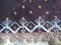 I ❤ embroidery . . . COI seam week 8.  This is the left corner of my Xmas block. Margreet from Holland