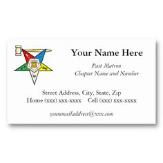 Shop Eastern Star Past Matron Business Card created by ArizonaStar. High Quality Business Cards, Eastern Star, Masons, Daughter Of God, Past, Things To Come, Stars, Prints, How To Make