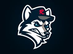 HUSKIES de Rouen designed by Aurélien Mahaut . Softball Logos, Wolf Background, Sports Decals, Sports Logos, Team Logo, Dog Icon, Game Logo Design, Symbol Logo, Animal Logo