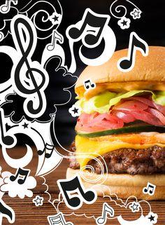 No hay mejor manera de iniciar la semana que disfrutando de tus dos cosas preferidas: Las hamburguesas y la buena música.