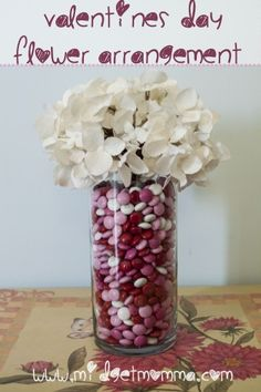DIY Valentine's Day Flower Arrangement