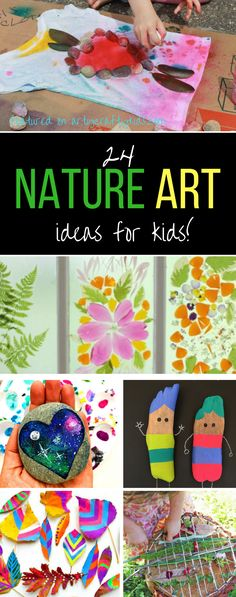 Arty Crafty Kids | Art | Bold Beautiful Nature Art Ideas for Kids | 24 Stunning art nature art projects for kids
