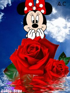 Hello Pictures, I Love You Pictures, Beautiful Love Pictures, Love You Images, Beautiful Gif, Disney Pictures, Beautiful Roses, Mickey Mouse Christmas, Mickey Mouse And Friends