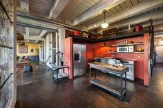 cozinha-rustica-parede-vermelha