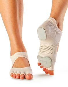 Buy Toesox Half Toe Plie Yoga Pilates Dance Patented Leather Pads Grip Socks from Grip Socks, Toe Socks, Bunion Shoes, Dance Socks, Foot Pain, Yoga Wear, Feet Care, Workout Gear, Belle Photo