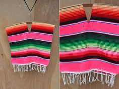 Colorful Wool Kids Poncho Fringes Rainbow Poncho Hippie Boho Gypsy Boys Girls Baby Toddler 1 - 2 - 3 Years old by ItaLaVintage on Etsy