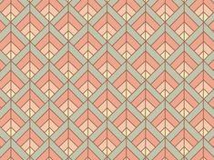 """Soft Art Déco"" by Tzadkiel apricot, art, beige, brown, déco, gentle, mint, muted, peach, pink:"