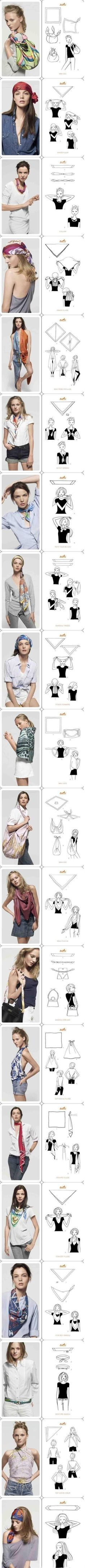 Scarf Tying - Click image to find more DIY & Crafts Pinterest pins