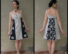 Mini Dress, Eco-friendly Handmade Clothing by EcoClo, size S-M