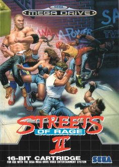 Streets of Rage II (Mega Drive) - More Streets Of Rage Box Art goodness!