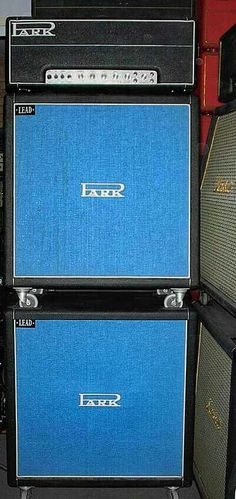 1972 PARK LEAD 100 Stack! Based off JMP 1959 circuit w/silver face + cabs full of 25w CELESTION G12M & Blue grill! PARK always have slight changes like the 1967 PA 50 had EL34 & SS Rectifier before MARSHALL switched.. PARK 150 has an extra gain stage in the PARK 150.. Stoked to learn more about the LEAD 100!