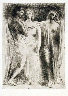 "Pablo Picasso (Spanish, 1881-1973), ""Les Trois Femmes,"" 1922; Indianapolis Museum of Art, Carl H. Lieber Memorial Find, 59.15"