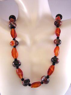 Carnelian Necklace, Beaded Necklace, Gemstone Necklace