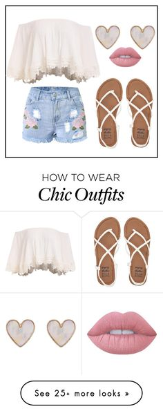 """Simply Chic"" by lolmina02 on Polyvore featuring Billabong, New Look, Lime Crime and creationsbymina"
