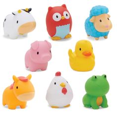 Barn Squirts - 8 Pack - Toys - Bath