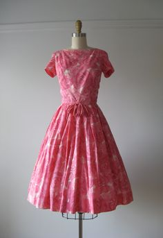 reserved for MissCherryCola reserved for MissCherryCola reserved for MissCherryCola only! vintage 1950s/early 1960s cotton party dress watercolor