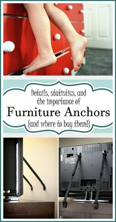 It is SO IMPORTANT to anchor your furniture and TVs to the wall for safety. Click here for details and options! {Sawdust and Embryos}