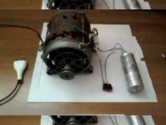 Cablaggio e funzionamento di un motore ad induzione da lavatrice - YouTube Diy Electronics, Electronics Projects, Nikola Tesla, Arduino, Wind Turbine, Diy And Crafts, Garage, Home Appliances, Design
