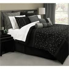 Superb Discount Comforter Sets   Cheap Comforter Sets   Discount Bedding    Universe Black And Silver Bedding By Lawrence   FINAL SALE