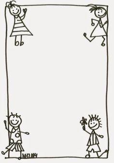 Borders - CRIANÇAS   Podem ser utilizados para: recados aos pais, enquadrar desenhos, escrever os textos das crianças, divulgar activida... Picture Borders, Page Borders, Borders For Paper, Borders And Frames, Teacher Binder Organization, School Border, Kindergarten Portfolio, Boarder Designs, English Worksheets For Kids