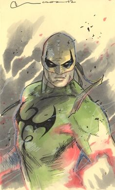 Iron Fist by Clay Mann; I am not always draw to character drawings but this one is particularly good.