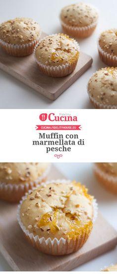 #Muffin con #marmellata di pesche della nostra utente Chiara. Unisciti alla nostra Community ed invia le tue ricette!