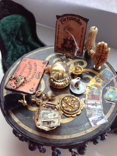 Brilliant mini fortune telling items by jane, use barbie hands or GI Joe hands for the modle hand. x