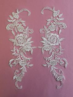 Ivory Embroidered Lace Appliques - Passiflora