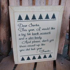 Fun Funny Holiday Christmas Sign Painted Wood by WordsofWisdomNH, $24.00