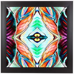 "East Urban Home Fall Leaves 2 by Rose Anne Colavito Framed Graphic Art Size: 12"" H x 12"" W x 1"" D"
