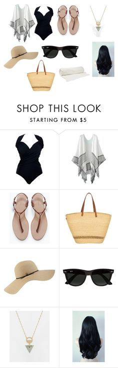 """Assassin-Beach Day"" by lilac-halo ❤ liked on Polyvore featuring Zara, Muuñ, Coal, Ray-Ban, ASOS and Balenciaga"