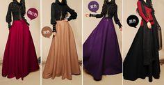 Designers automne laine mode Casual Vintage parapluie Long jupe soleil Maxi jupes pour femmes ( kaki profonde bleu noir ) dans Jupes de Accessoires et vêtements pour femmes sur AliExpress.com | Alibaba Group