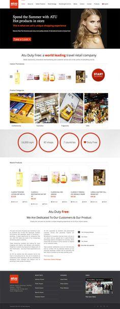 Atu Duty Free website design by diseñoideas marbella